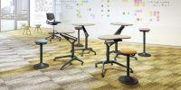 OKAMURA Risefit Schreibtisch Schwarzes Bein