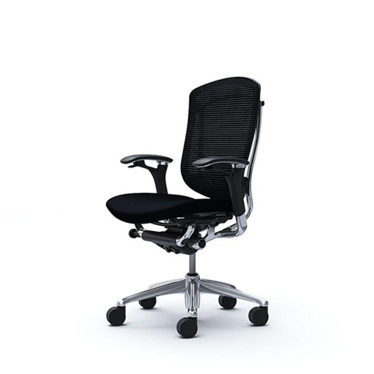 Bürostuhl CONTESSA Polierter Rahmen Schwarz